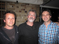 David Jenyns, John Carlton and Kyle Tully at the FWF2 after party.